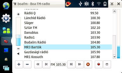 BoaFM - FM-radio for Nokia N800